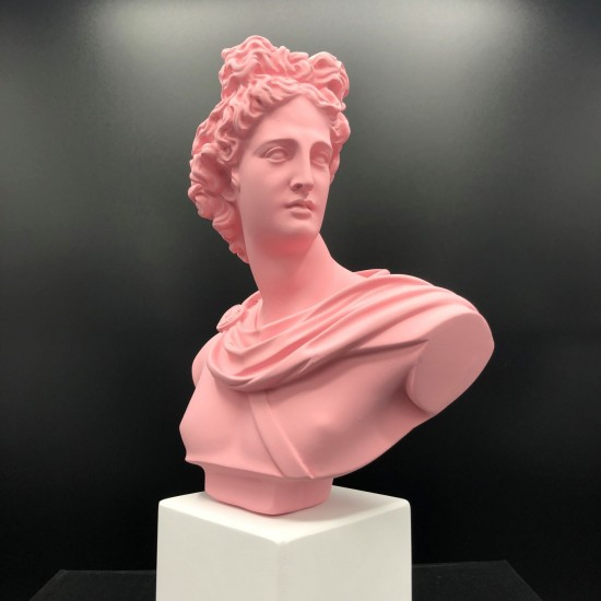 Apollo bust pink
