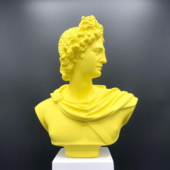 Apollo bust lime