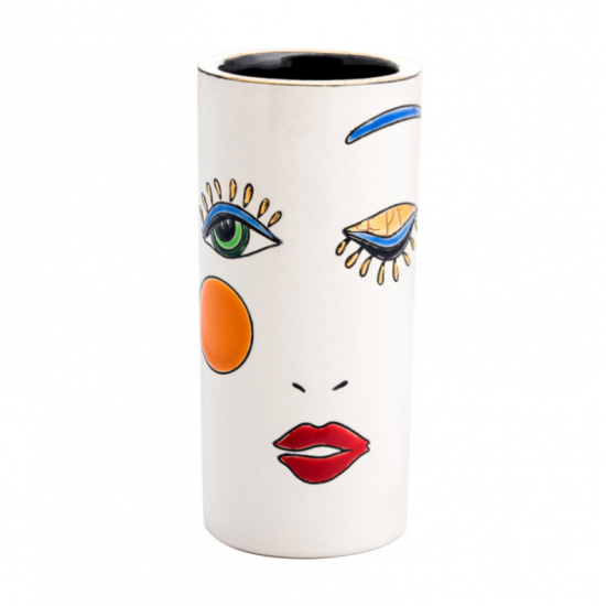 Vase 14cm Happy Face Longwy