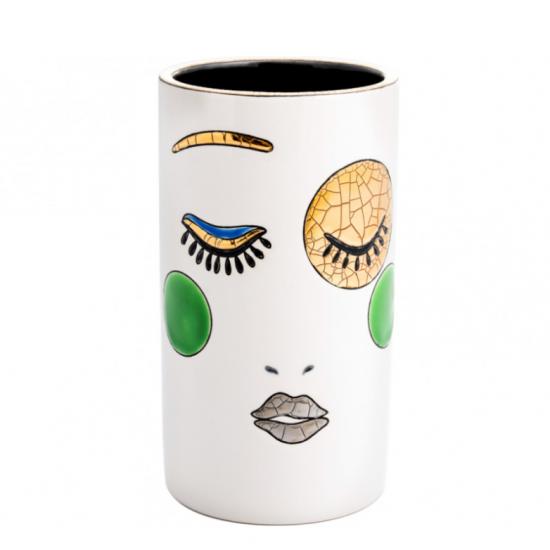 Vase 17cm Happy Face Longwy