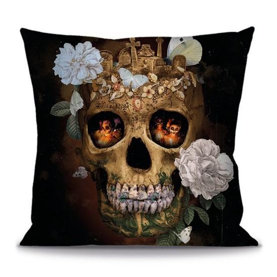 Cushion cover SKULL MEMENTO...