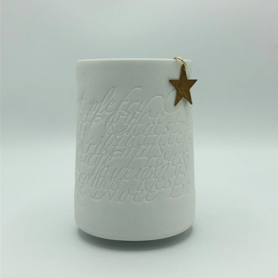 Poetry light brass star large