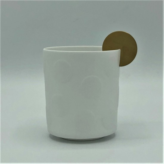 Spotlight porcelain & brass...
