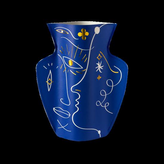 Paper Vase Vasage blue