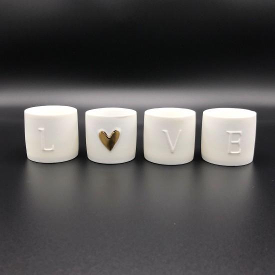 Set de 4 luminions LOVE