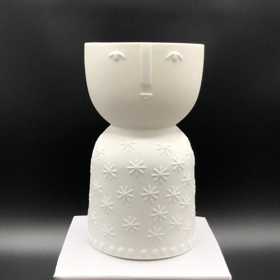 Porcelain candle carrier n°1