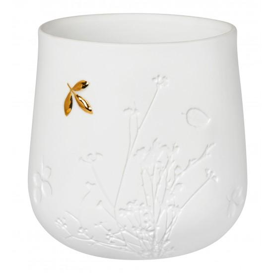 Porcelain lights detail gold